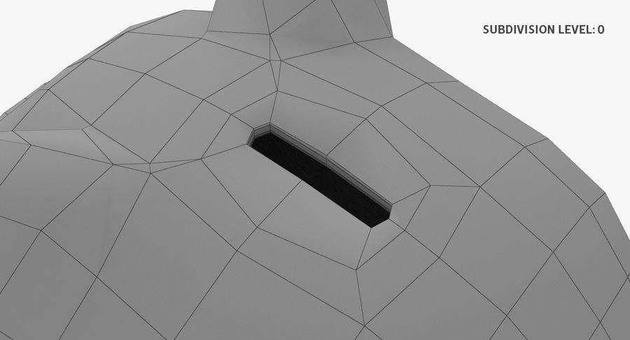 Piggy Bank Pig royalty-free 3d model - Preview no. 12