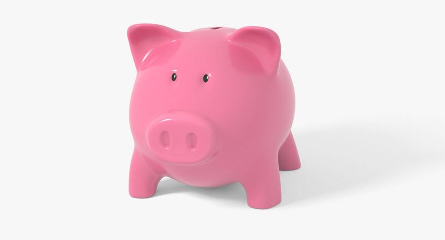 Piggy Bank Pig royalty-free 3d model - Preview no. 3