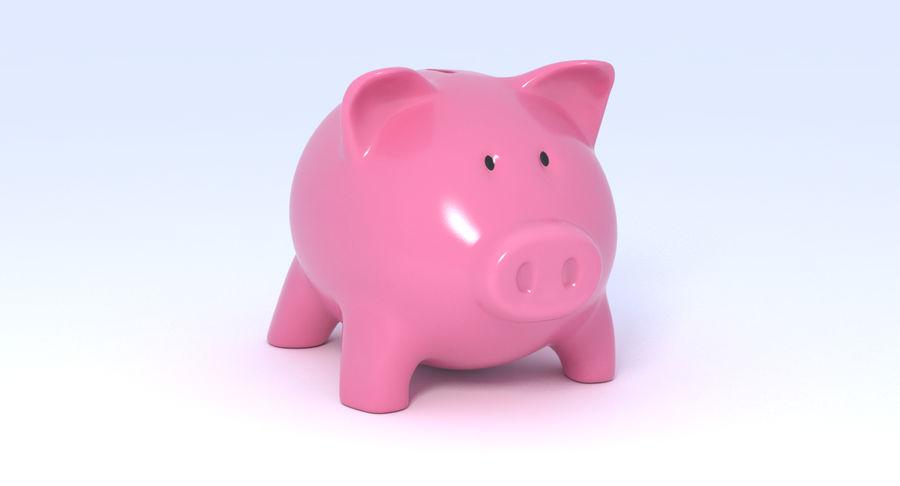 Piggy Bank Pig royalty-free 3d model - Preview no. 2
