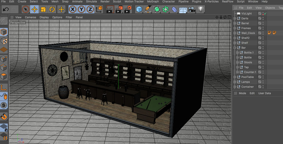 Old English Pub royalty-free 3d model - Preview no. 5