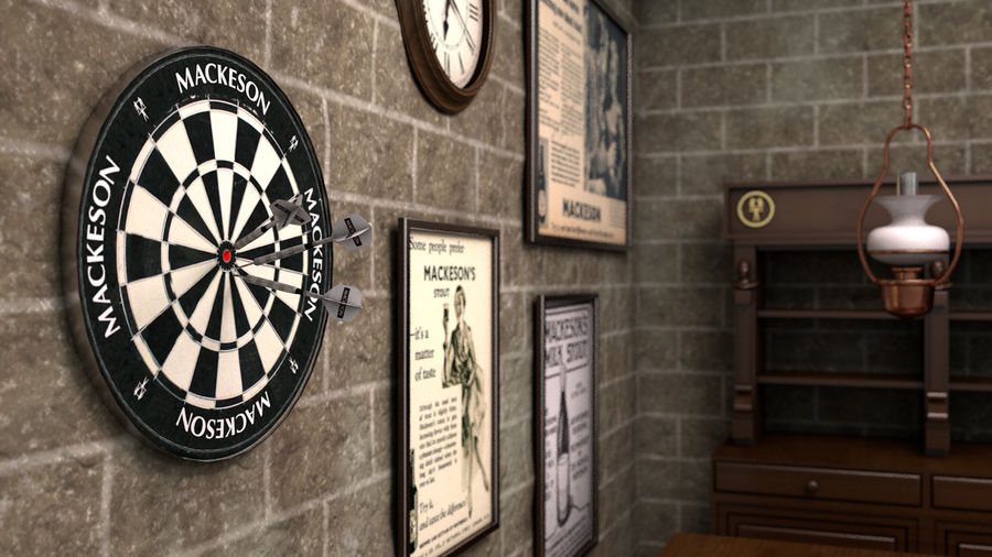 Old English Pub royalty-free 3d model - Preview no. 3