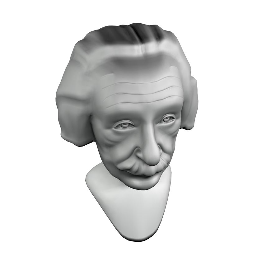 Posąg postaci Einsteina royalty-free 3d model - Preview no. 6