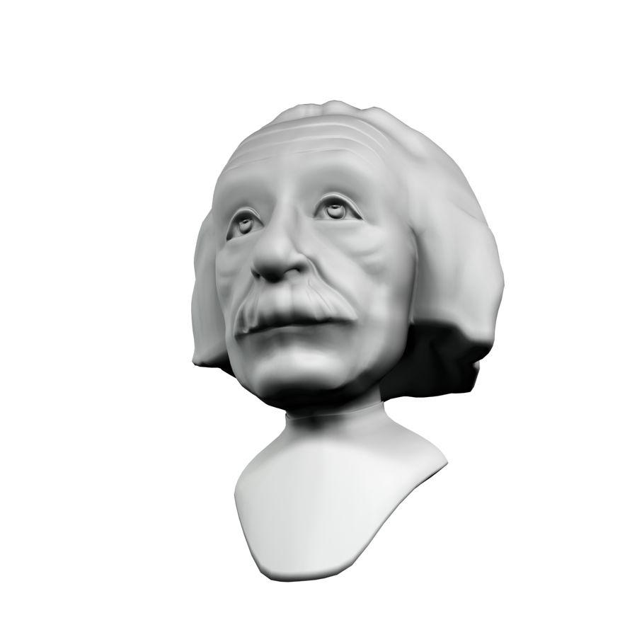 Posąg postaci Einsteina royalty-free 3d model - Preview no. 5