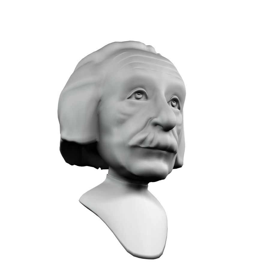 Posąg postaci Einsteina royalty-free 3d model - Preview no. 4