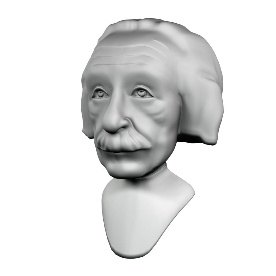 Posąg postaci Einsteina royalty-free 3d model - Preview no. 1
