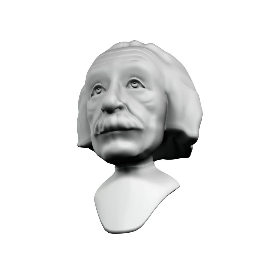 Posąg postaci Einsteina royalty-free 3d model - Preview no. 5