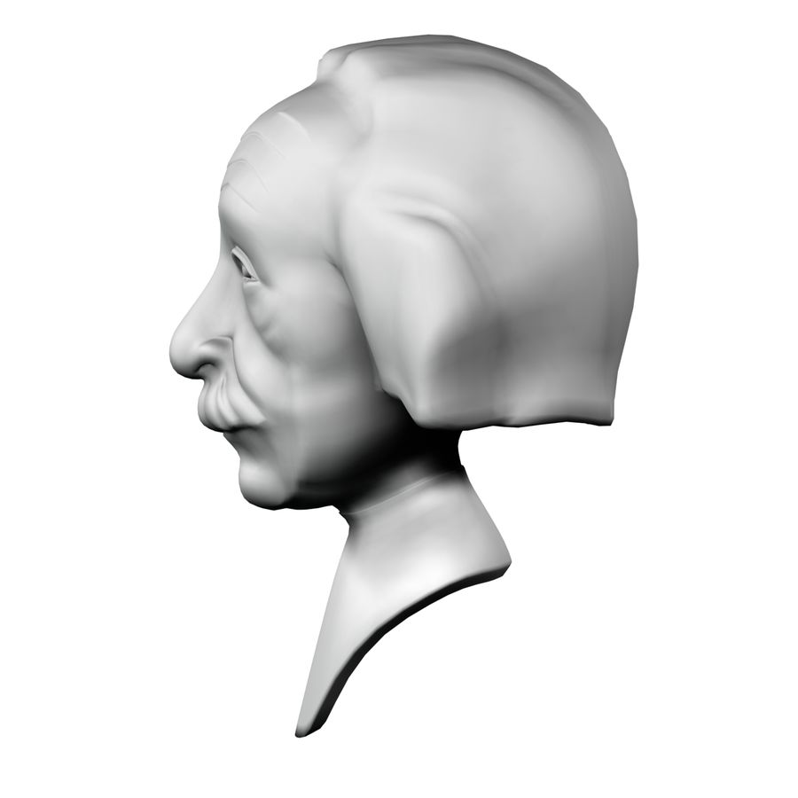 Posąg postaci Einsteina royalty-free 3d model - Preview no. 3