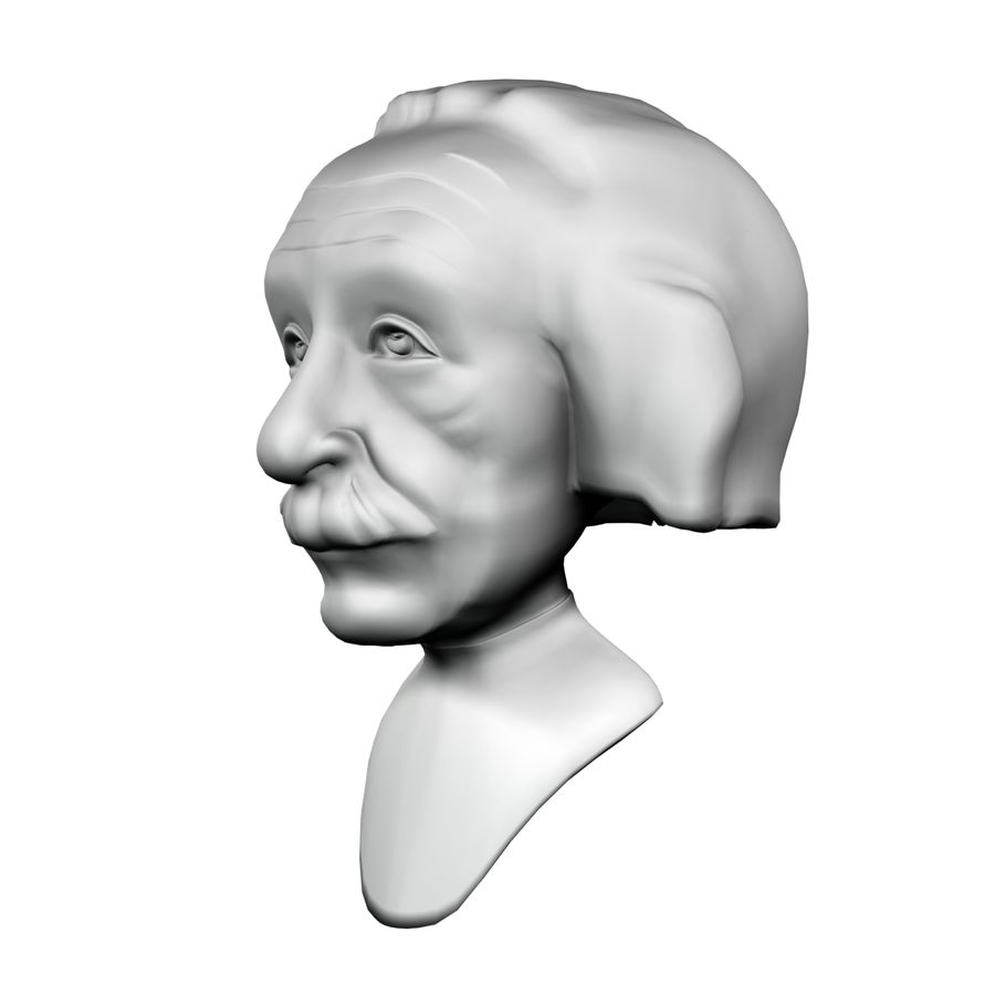 Posąg postaci Einsteina royalty-free 3d model - Preview no. 2