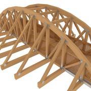 Wood Overpass Bridge 3d model