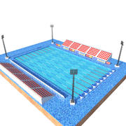 Olympic Size Swimming Pool 3d model
