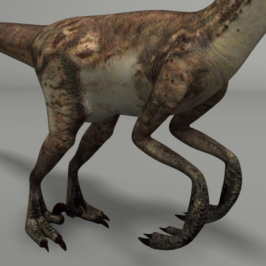 Velociraptor royalty-free 3d model - Preview no. 3