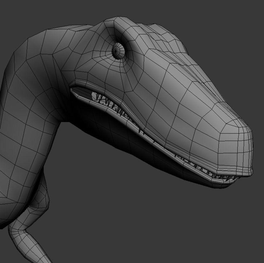 Velociraptor royalty-free 3d model - Preview no. 9