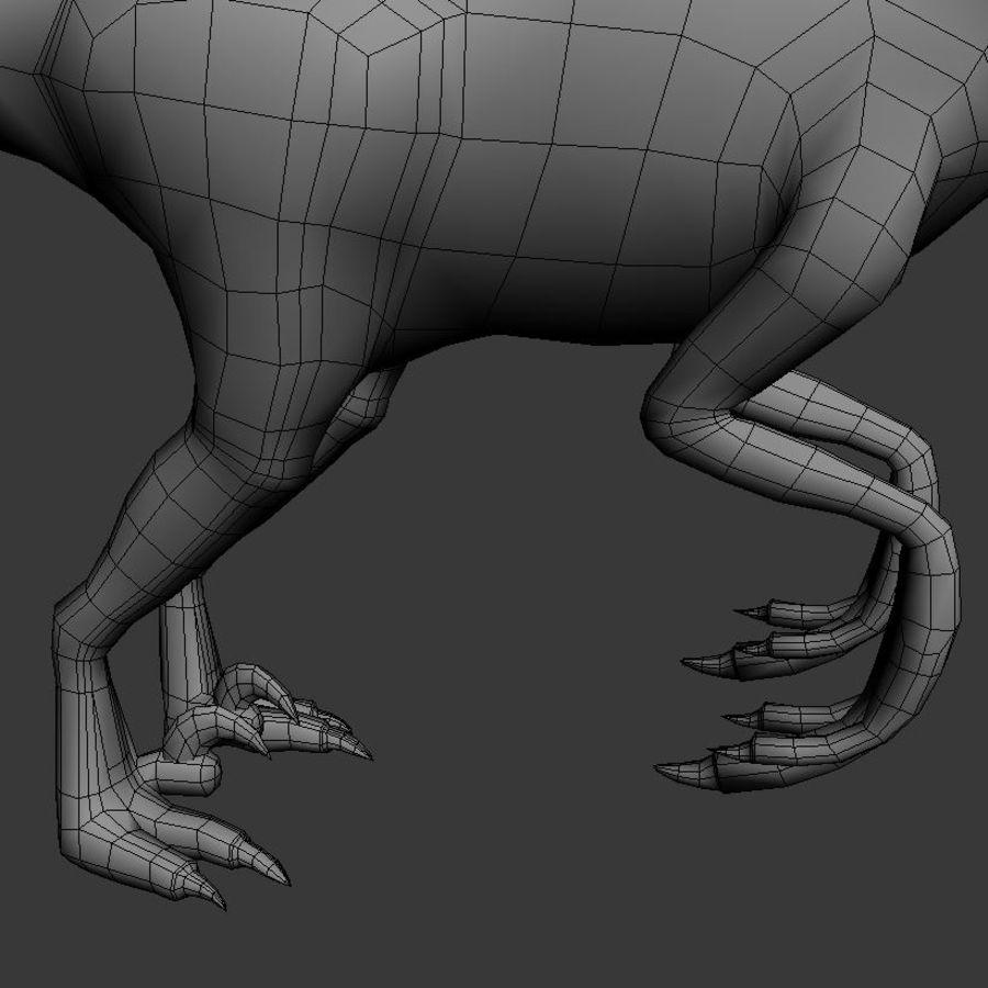 Velociraptor royalty-free 3d model - Preview no. 8