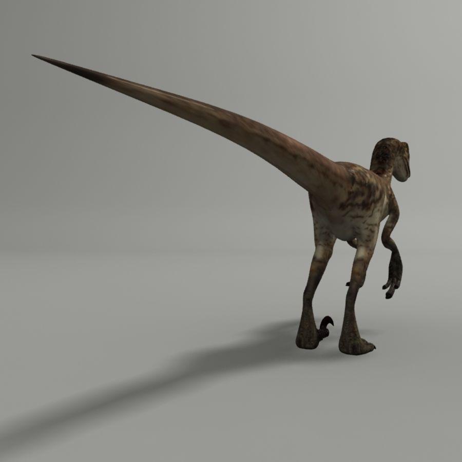 Velociraptor royalty-free 3d model - Preview no. 4