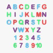 문자와 숫자 3d model