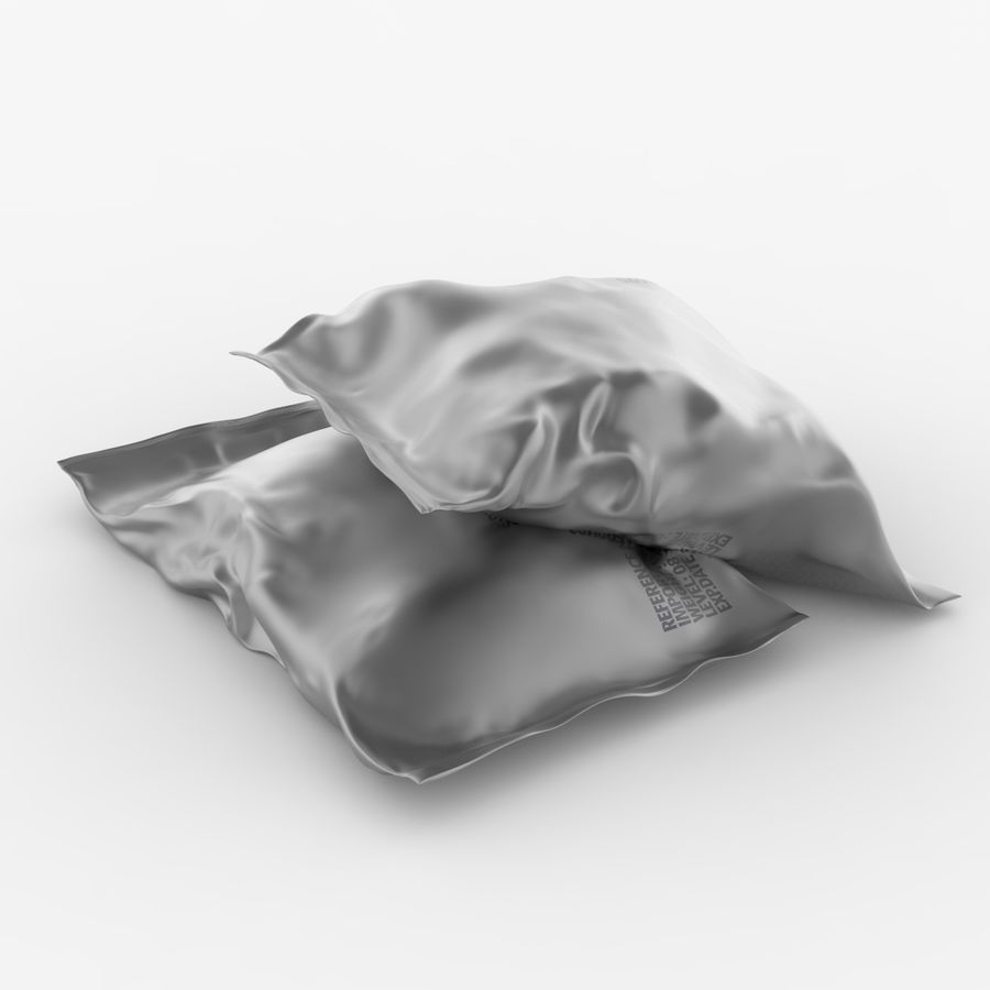 2 Sachets Bags Packaging royalty-free 3d model - Preview no. 6