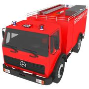 Stary Mercedes Fire Engine 3d model