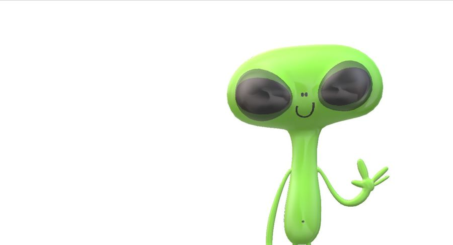 Extraterrestre royalty-free 3d model - Preview no. 1