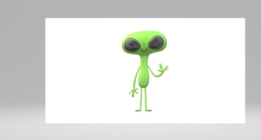 Extraterrestre royalty-free 3d model - Preview no. 4