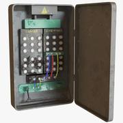 錆びた電気ボックス 3d model