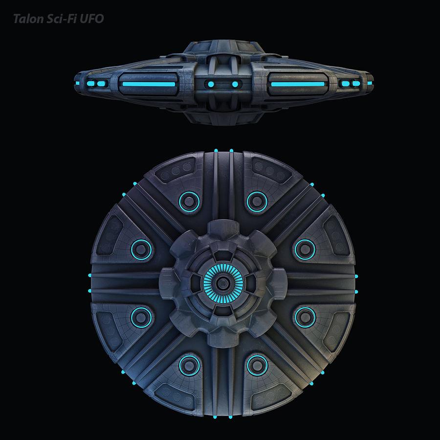 Talon Bilim Kurgu UFO royalty-free 3d model - Preview no. 15