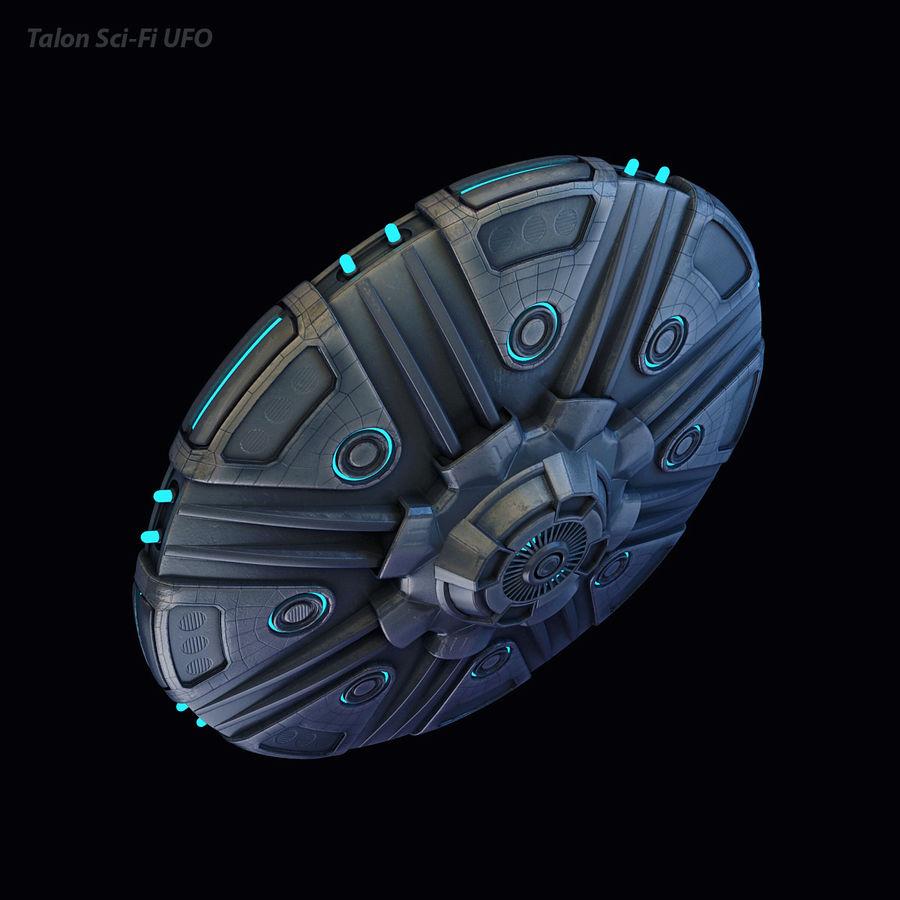 Talon Sci-Fi UFO royalty-free 3d model - Preview no. 12
