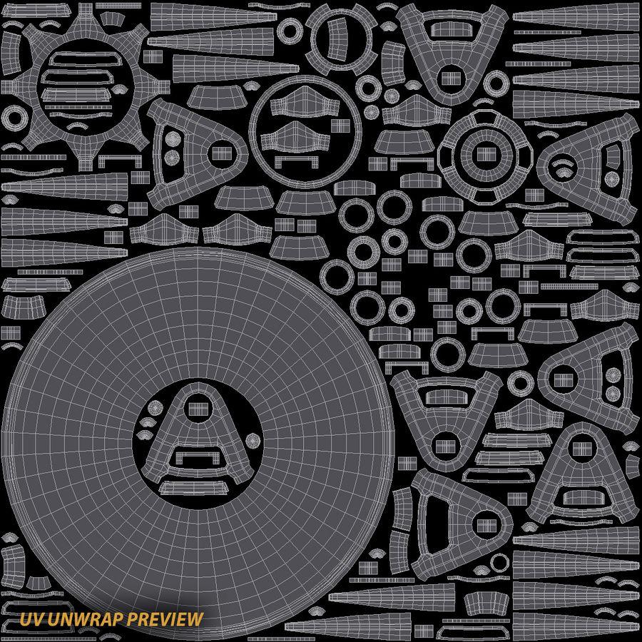 Talon Sci-Fi UFO royalty-free 3d model - Preview no. 18