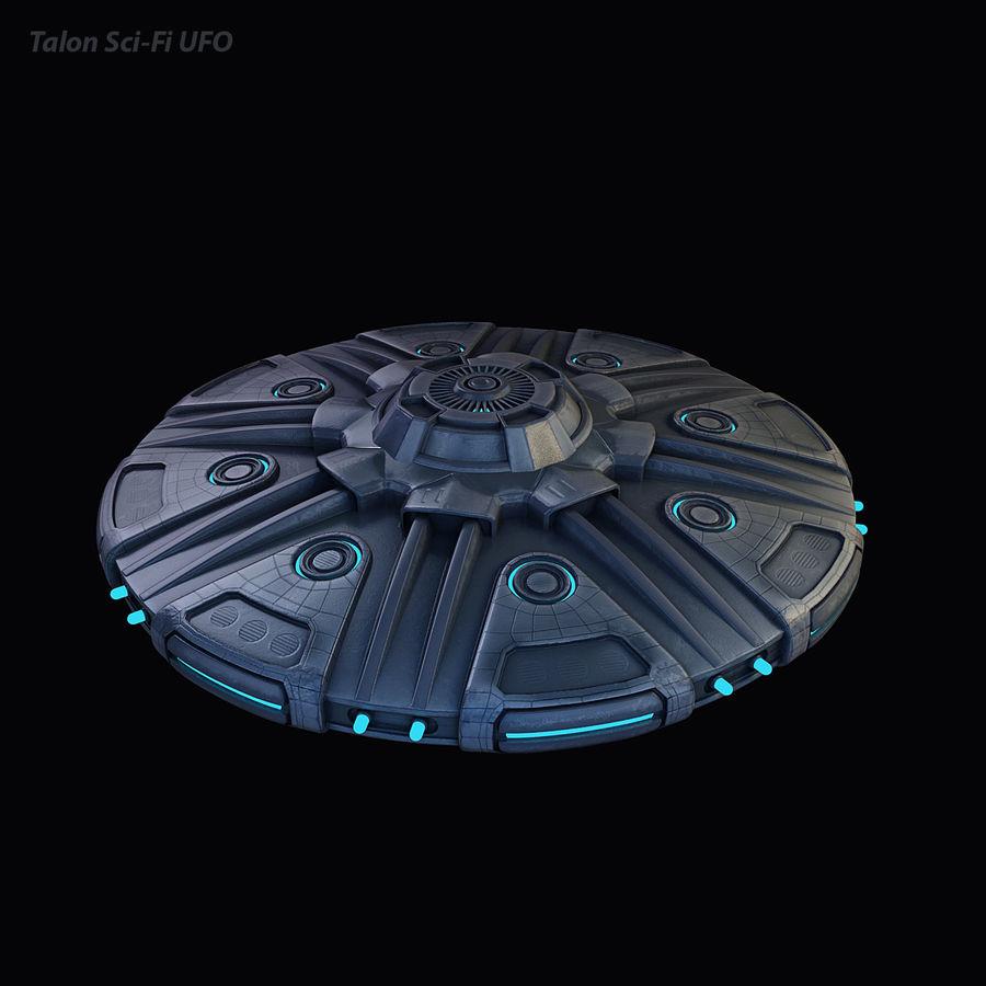 Talon Sci-Fi UFO royalty-free 3d model - Preview no. 4