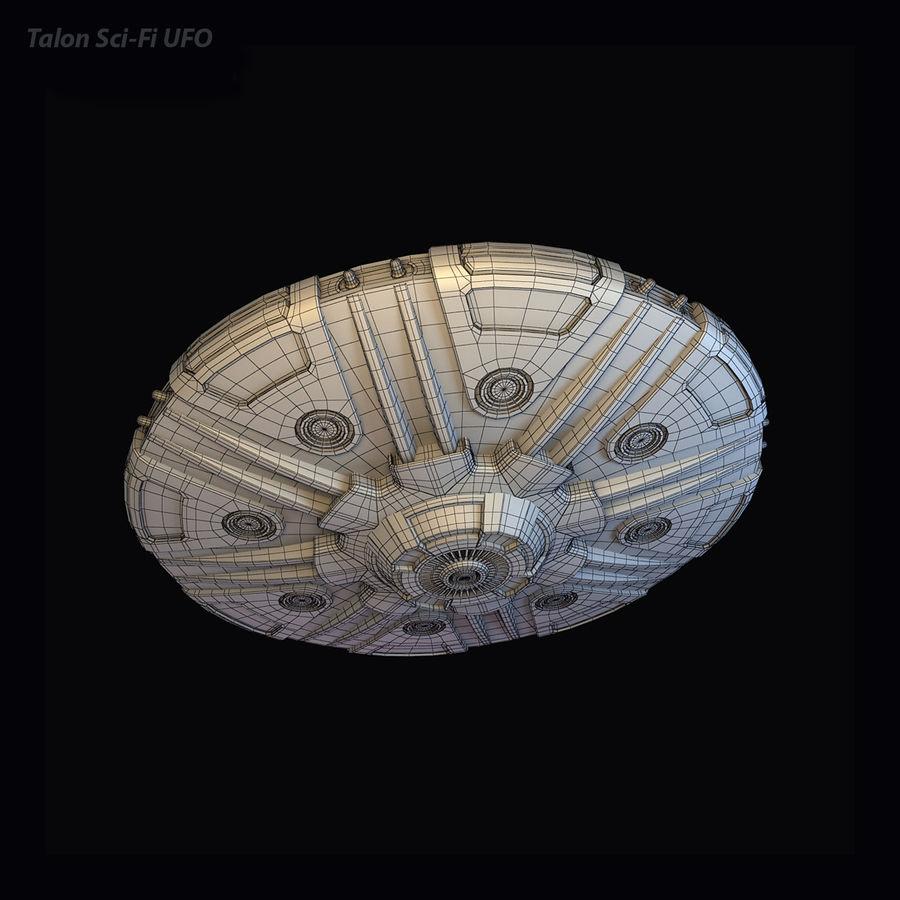 Talon Sci-Fi UFO royalty-free 3d model - Preview no. 7