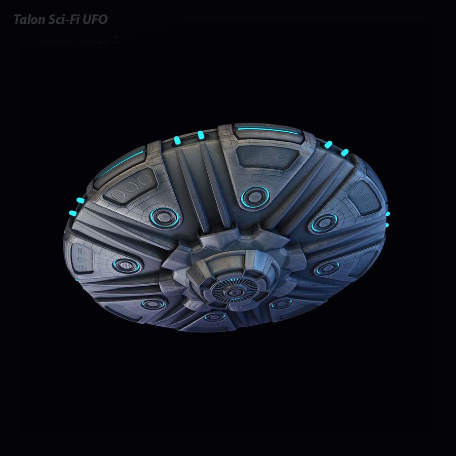 Talon Bilim Kurgu UFO royalty-free 3d model - Preview no. 2