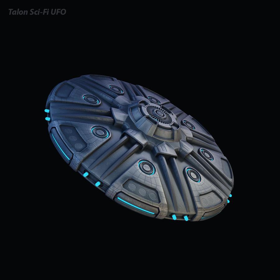 Talon Sci-Fi UFO royalty-free 3d model - Preview no. 9