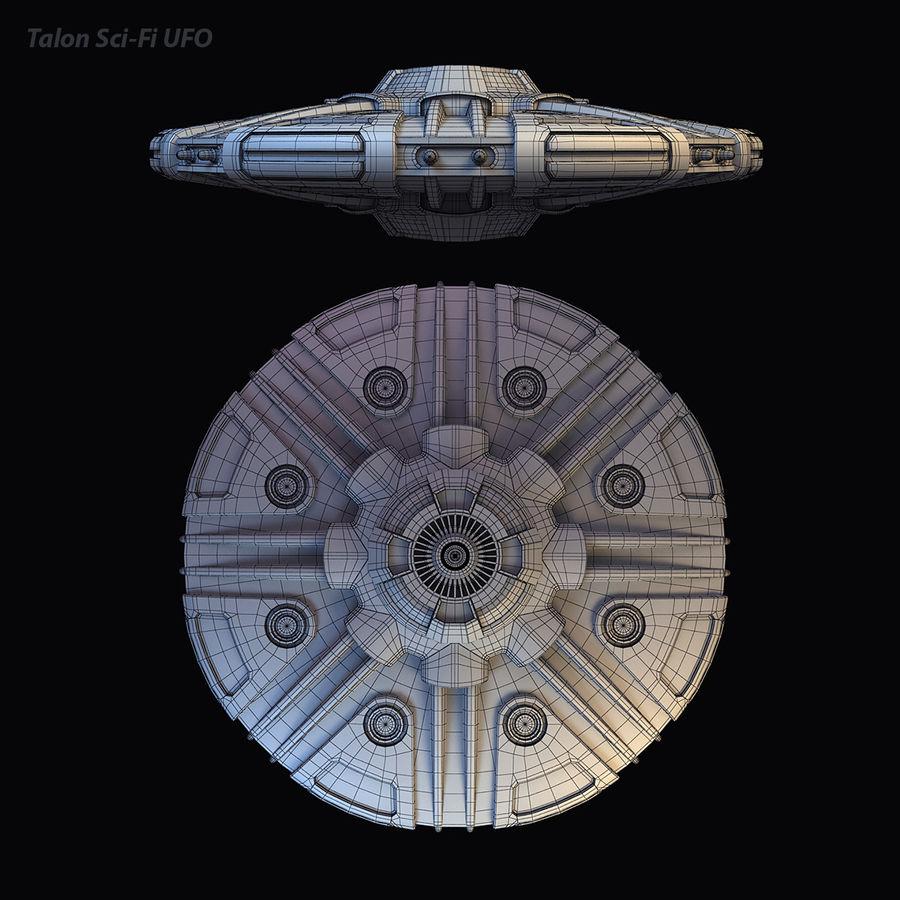 Talon Sci-Fi UFO royalty-free 3d model - Preview no. 16