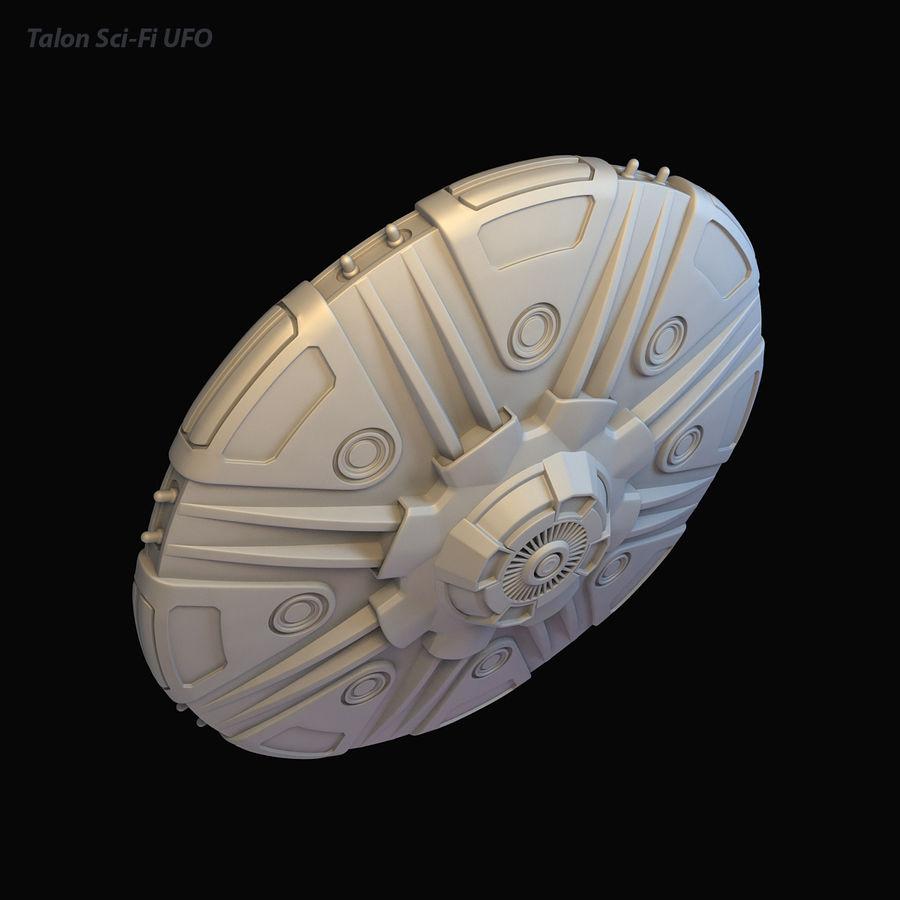 Talon Sci-Fi UFO royalty-free 3d model - Preview no. 14