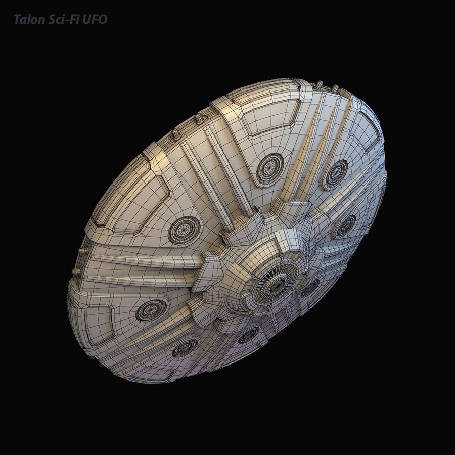 Talon Sci-Fi UFO royalty-free 3d model - Preview no. 13