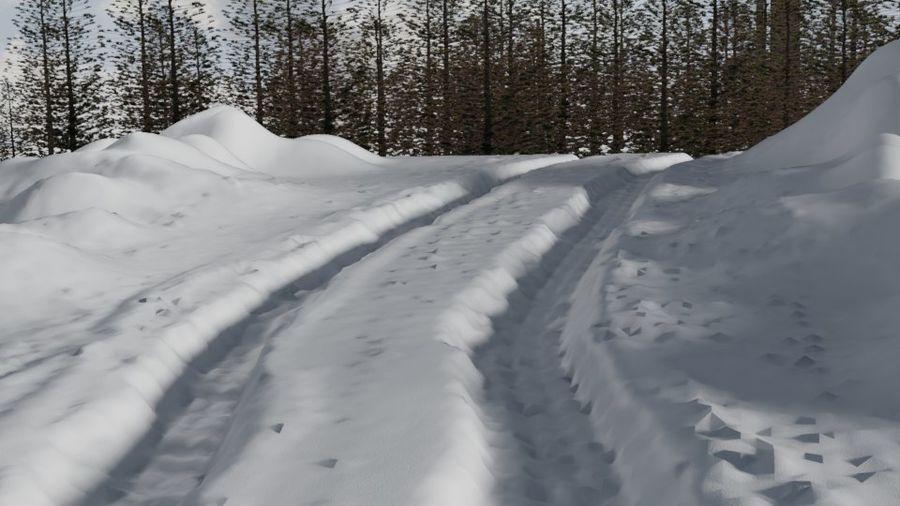 Snow landscape royalty-free 3d model - Preview no. 2