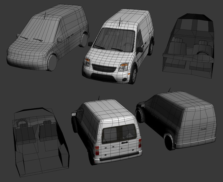 Transit Vehicle royalty-free 3d model - Preview no. 5