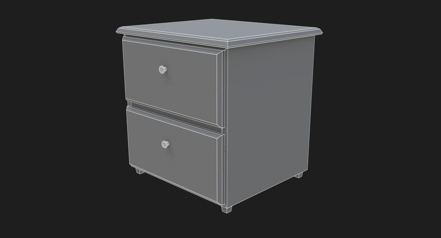 Nachttisch royalty-free 3d model - Preview no. 4