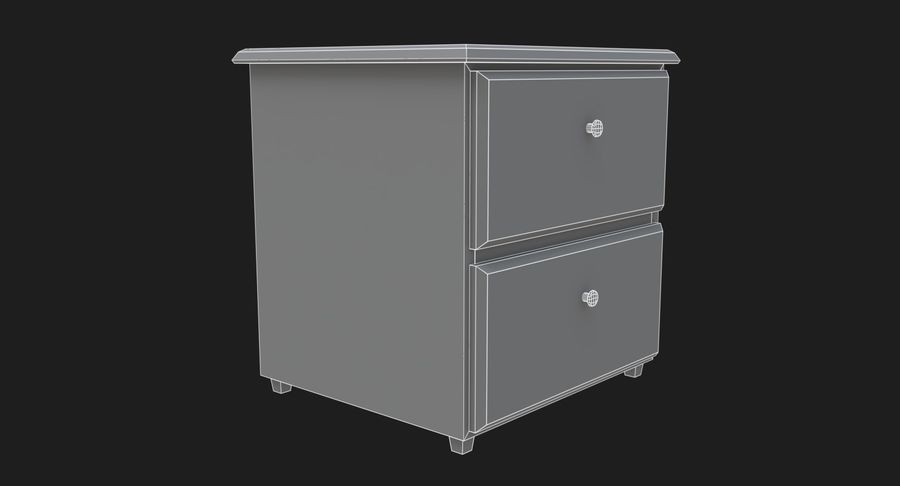 Nachttisch royalty-free 3d model - Preview no. 6