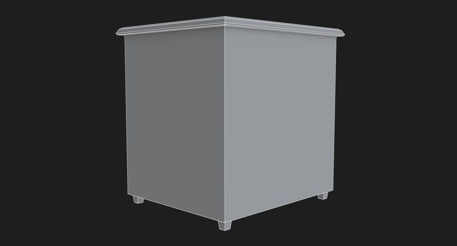 Nachttisch royalty-free 3d model - Preview no. 10