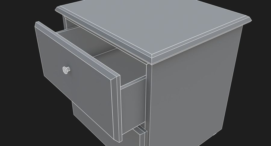Nachttisch royalty-free 3d model - Preview no. 12