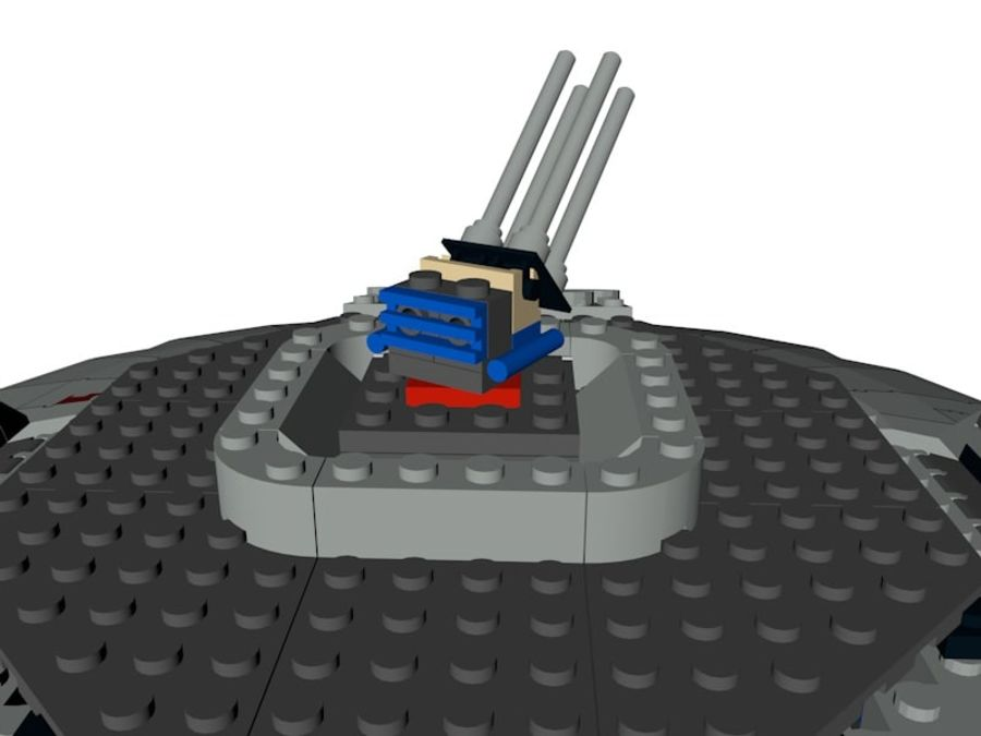 LEGO Star Wars Millennium Falcon royalty-free 3d model - Preview no. 8