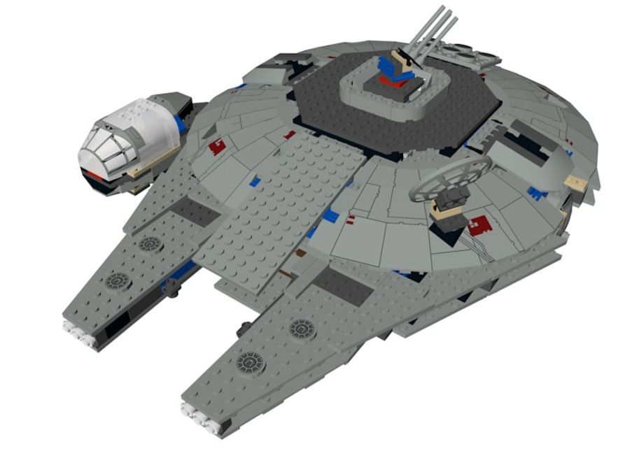 LEGO Star Wars Millennium Falcon royalty-free 3d model - Preview no. 2