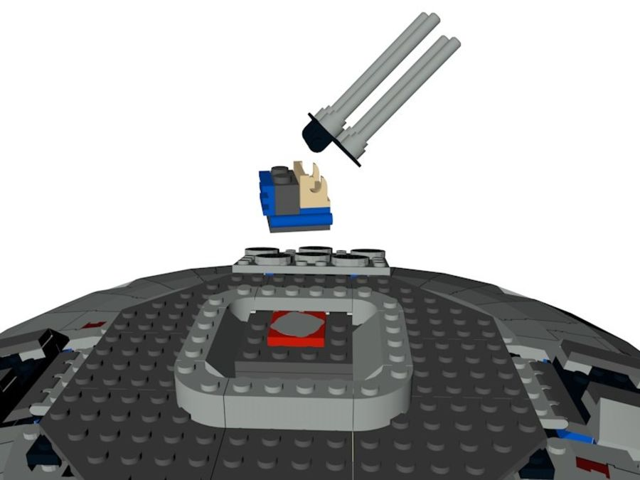LEGO Star Wars Millennium Falcon royalty-free 3d model - Preview no. 11