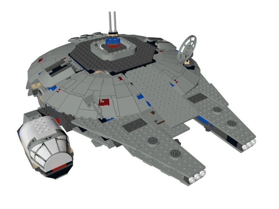 LEGO Star Wars Millennium Falcon royalty-free 3d model - Preview no. 3