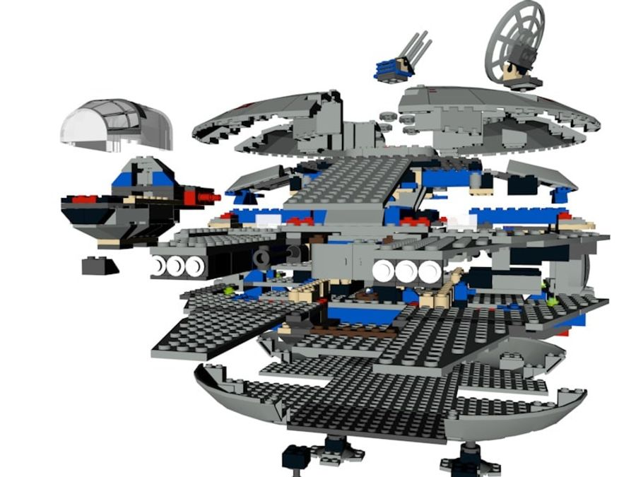 LEGO Star Wars Millennium Falcon royalty-free 3d model - Preview no. 14