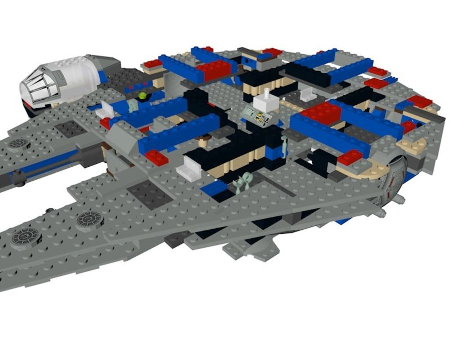 LEGO Star Wars Millennium Falcon royalty-free 3d model - Preview no. 10