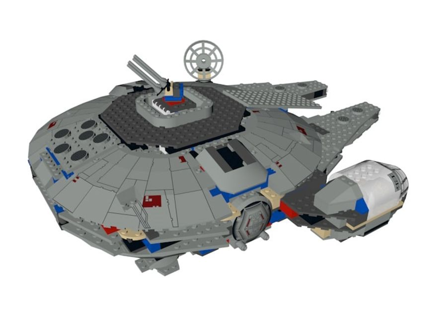 LEGO Star Wars Millennium Falcon royalty-free 3d model - Preview no. 4