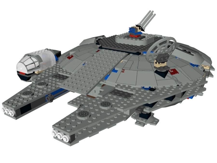 LEGO Star Wars Millennium Falcon royalty-free 3d model - Preview no. 1