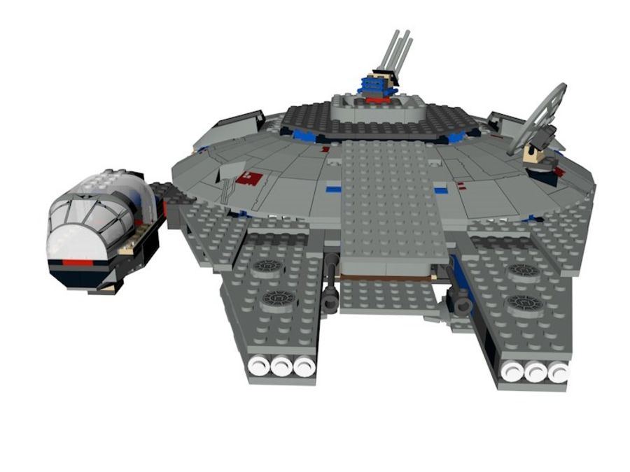LEGO Star Wars Millennium Falcon royalty-free 3d model - Preview no. 6