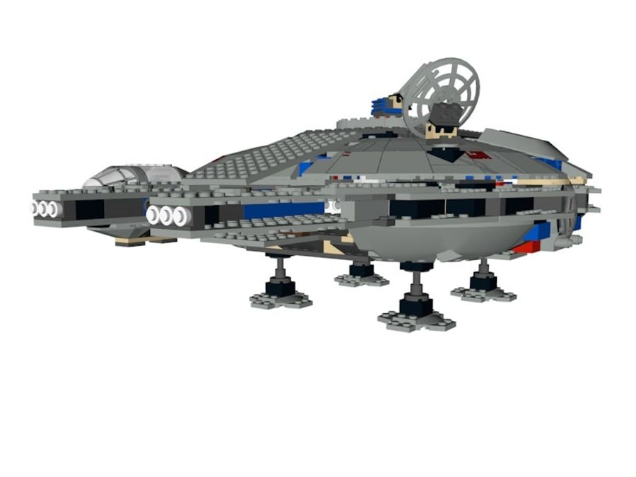 LEGO Star Wars Millennium Falcon royalty-free 3d model - Preview no. 5